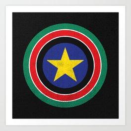 Captain South Sudan Art Print