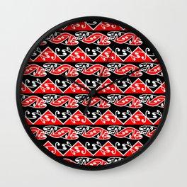 Kowhaiwhai Traditional Maori Koru Pattern Wall Clock