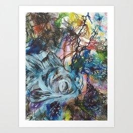 Black Moor Goldfish Art Print