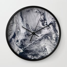 Sea Ice, Clouds in the Sea of Okhotsk Wall Clock
