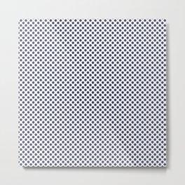 Deep Cobalt Polka Dots Metal Print