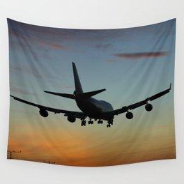 747 Sunset Landing Wall Tapestry