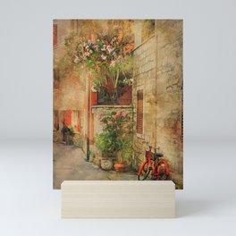 The Red Bike Mini Art Print