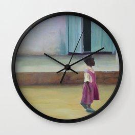 African Girl Wall Clock