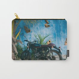 Picture Perfect Motorcycle in Mexico Carry-All Pouch