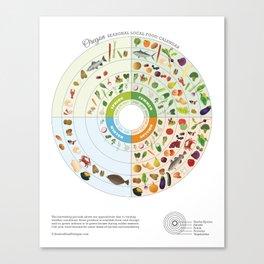Oregon Seasonal Local Food Calendar Canvas Print
