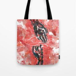 Akai Ito - Red String of Fate Tote Bag