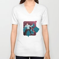 heroes V-neck T-shirts featuring Heroes by Kivitasku Designs