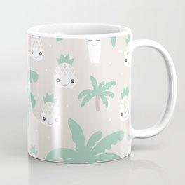 Kawaii breeze summer pineapples and palm trees Coffee Mug
