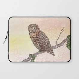 Barred Owl Watercolor Laptop Sleeve