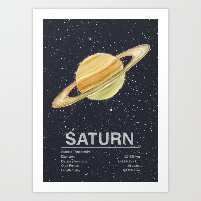 Sunday's Society6 | Planet Saturn art print