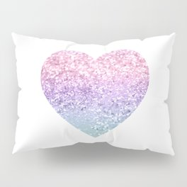 Unicorn Girls Glitter Heart #1 #shiny #pastel #decor #art #society6 Pillow Sham