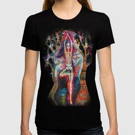 Roots, Dia De Los Muertos Yoga Tree Pose T-shirt