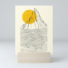 The rocky sea cliffs  Mini Art Print
