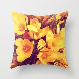 Yellowness Throw Pillow