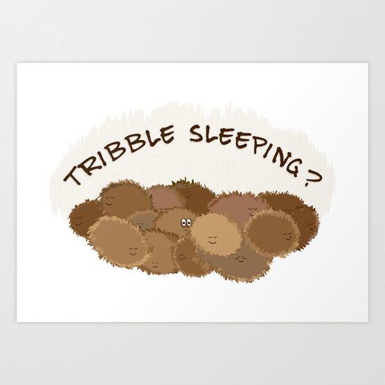 Tribble sleeping Art Print