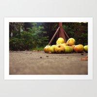 Cooking Apples Art Print