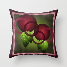 Raspberry with Basil Throw Pillow