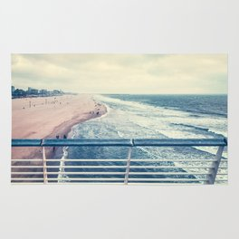 Beach at summer sunset Rug