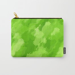 green painting abstract texture background Carry-All Pouch