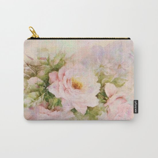 delicate vintage rose Carry-All Pouch
