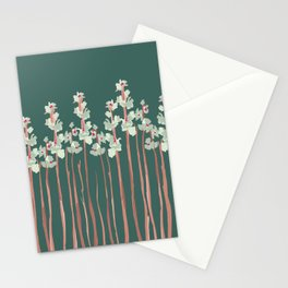 Marshmallow in Green Stationery Cards