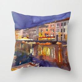 Night in Venice part 1 Throw Pillow