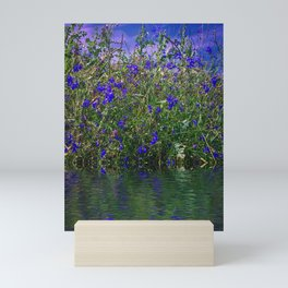 Nature Blue And Green Water Reflection Mini Art Print