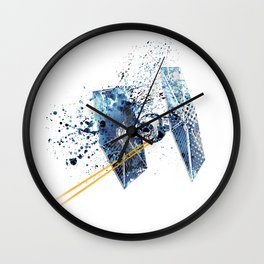 TIE FIGHTER #BLUE Wall Clock