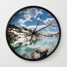 Winter's Retreat Wall Clock