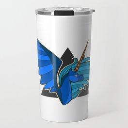 Cobalt Alicorn Bust Travel Mug