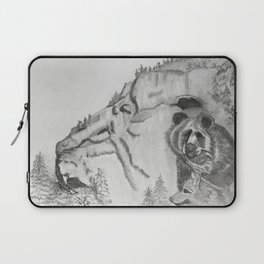 The Fairytale about the Wolf, Bear, and the Lion Laptop Sleeve