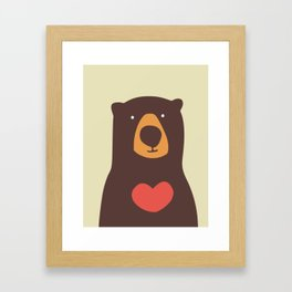 Hearty bear hug Framed Art Print
