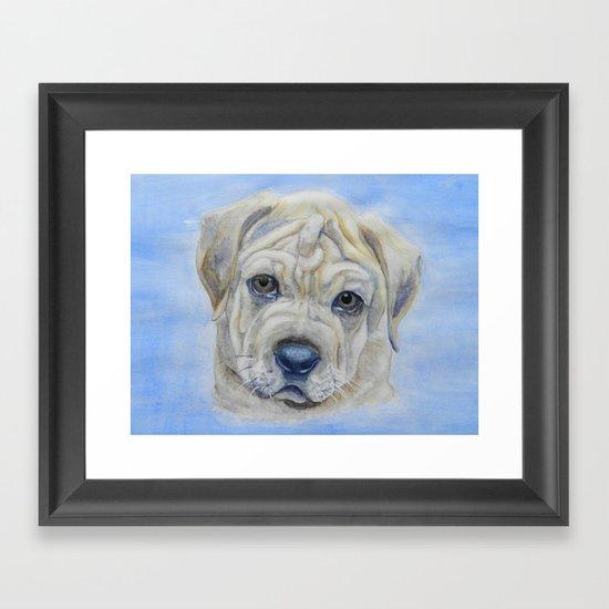 Puppy-dog Eyes Framed Art Print