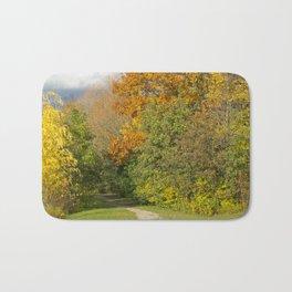 Walking Through Autumn Bath Mat