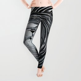 The Hole (Black and White) Leggings