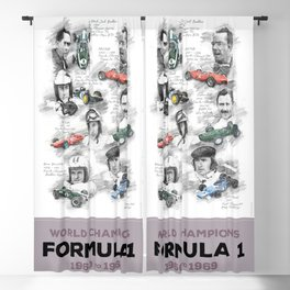 Formula 1 World-Champion from 1960 to 1969 Blackout Curtain