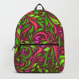 Paper Floral Collection - Pink Passion- Beautiful 3D Depth Effect Backpack