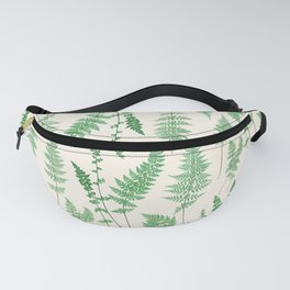 Ferns on Cream I - Botanical Print Fanny Pack