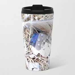 Feathers Metal Travel Mug