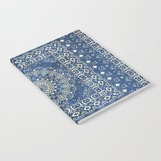 Old Bookshop Magic Mandala in Blue Notebook