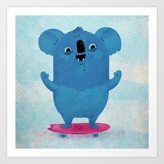 Kickflip Koala Art Print