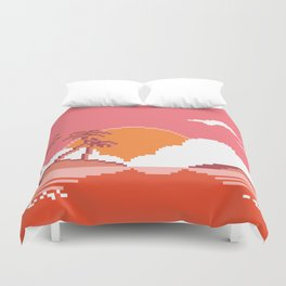 Sunset  on  Coco  Island Duvet Cover
