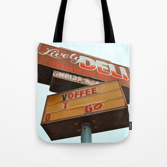 The old deli Tote Bag