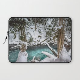 Adventure Awaits River - Pacific Northwest Nature Photography Laptop Sleeve