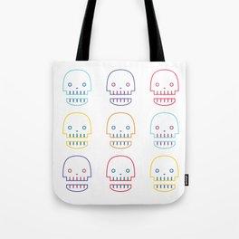 robo skull Tote Bag