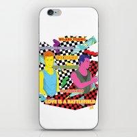 battlefield iPhone & iPod Skins featuring Love is a battlefield by JetProArt