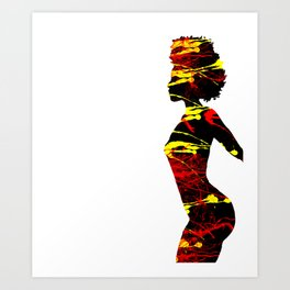 Color Girl Power Art Print
