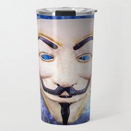 Anonymos Hacktivst Group Travel Mug