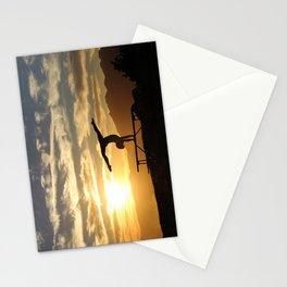 Gymnastics Silhoete Stationery Cards